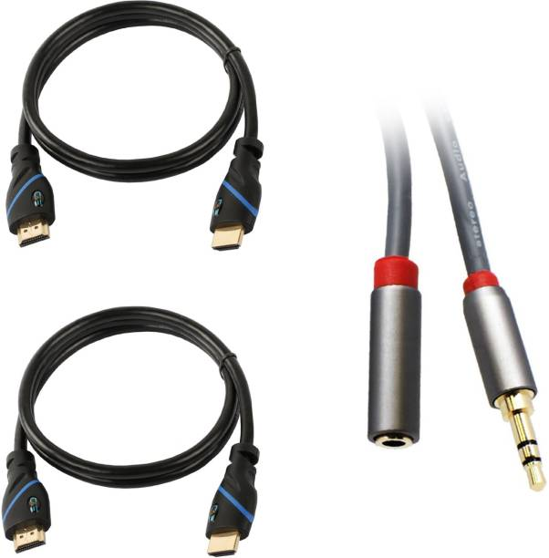 CE Buy 2 3 Feet HDMI Cable & Get Free 3-Feet 3.5mm Male to Female Audio Extension Cable Free 0.9144 m HDMI Cable