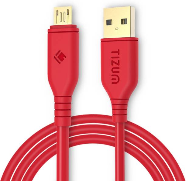 Tizum XL- 6.5 Feet Gold Plated - High Speed, Quick Charge 2.4 Amp & Data Sync 2 m Micro USB Cable
