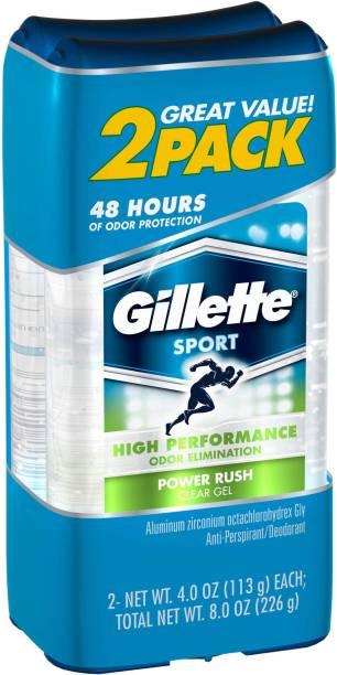 GILLETTE Sport Power Rush Pack of 2 Deodorant Gel  -  For Men