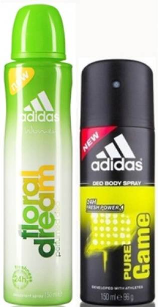 ADIDAS Floral Dream and Pure Game Deodorant Spray  -  For Men & Women
