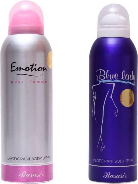 Rasasi emotion,blue lady Deodorant Spray - For Women