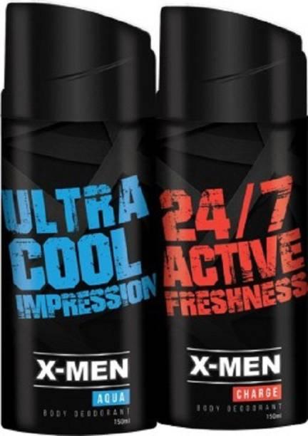 X-Men Ultra Cool Impression & 24/7 Active Freshness Deodorant Spray  -  For Men