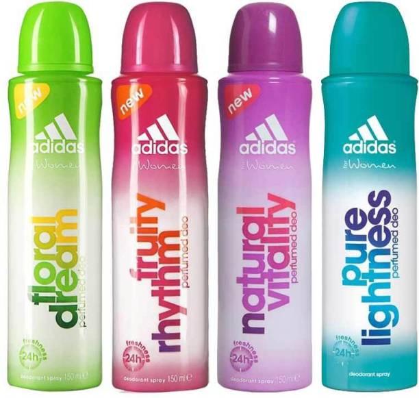 ADIDAS Floral Dream Fruity Rhythm Natural Vitality Pure Lightness Deodorant Spray  -  For Women