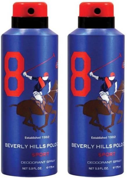 BEVERLY HILLS POLO CLUB Combo Deodorants No.8X8 Deodorant Spray  -  For Men