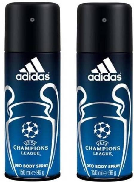 ADIDAS Champion leauge Deodorants pack of 2 Deodorant Spray  -  For Men