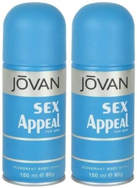 JOVAN Sex Appeal Deodorant Spray 150ml Body Mist  -  For Men