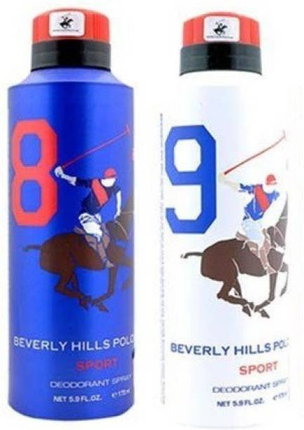 BEVERLY HILLS POLO CLUB Sport Deo no. 8 and 9 Deodorant Spray  -  For Men