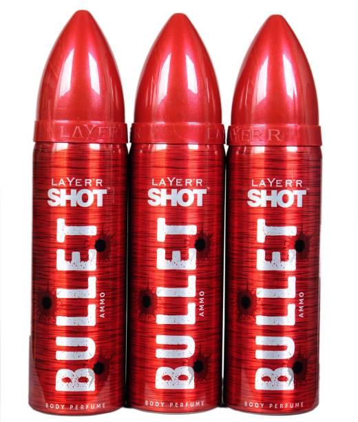 Layer'r Shot ammo Deodorant Spray  -  For Men & Women