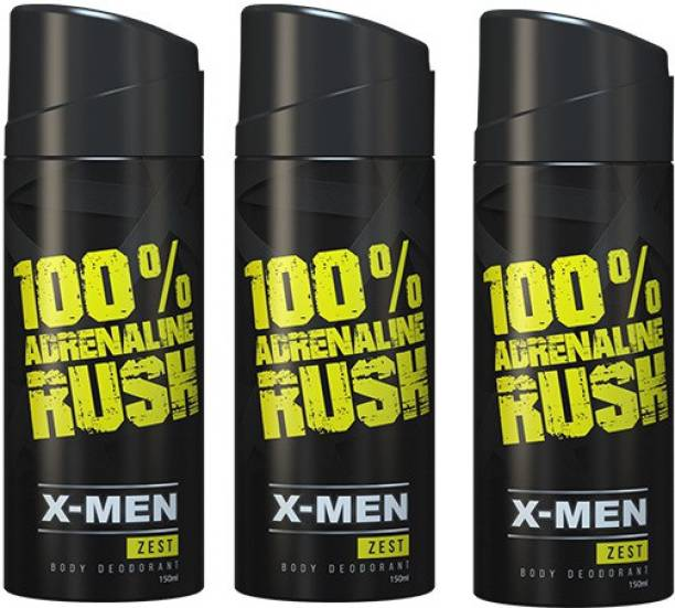 X-Men Zest (Set of 3) Deodorant Spray  -  For Men