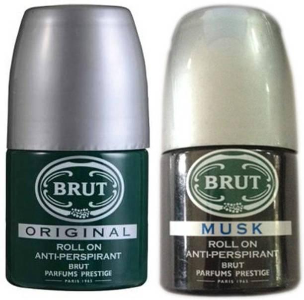 BRUT Musk and Original Deodorant Roll-on  -  For Men & Women