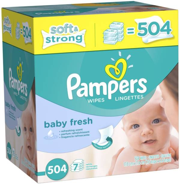 Pampers Softcare Baby Fresh Wipes 7x box - M