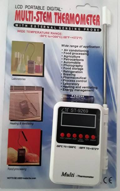 TG Multi-System with External Probe LCD Portable Thermometer