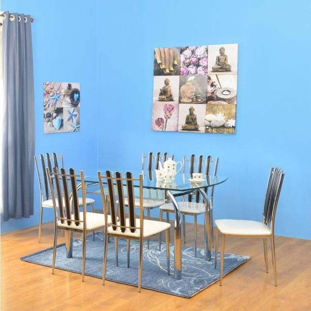 Nilkamal Chrysanta Glass 6 Seater Dining Set