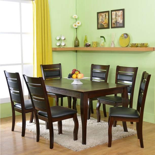 @Home by nilkamal Larissa Engineered Wood 6 Seater Dining Set
