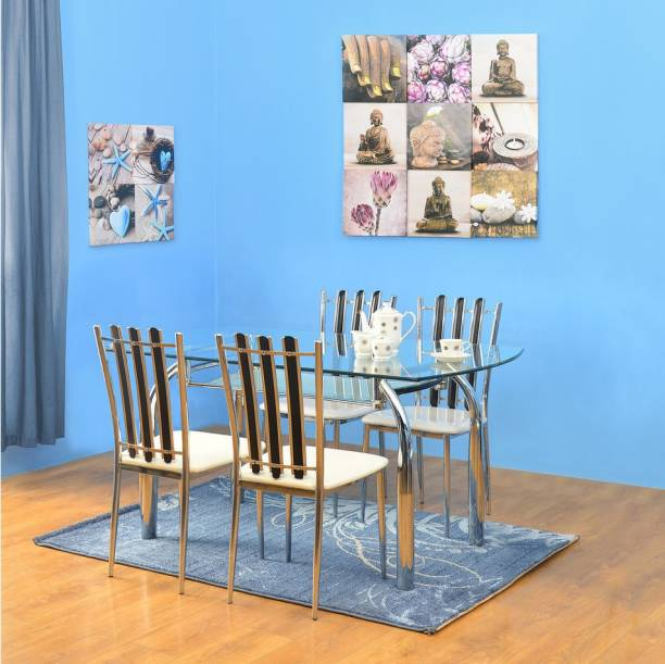 Nilkamal Chrysanta Glass 4 Seater Dining Set