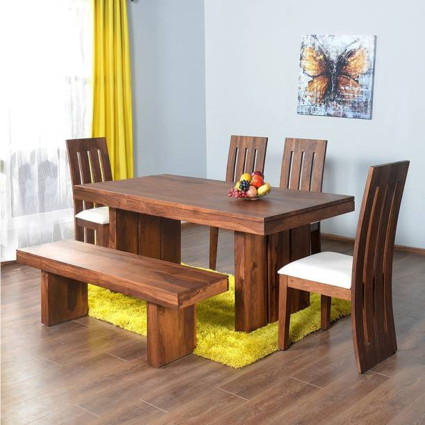 Home By Nill Delmonte Solid Wood 6 Seater Dining Set