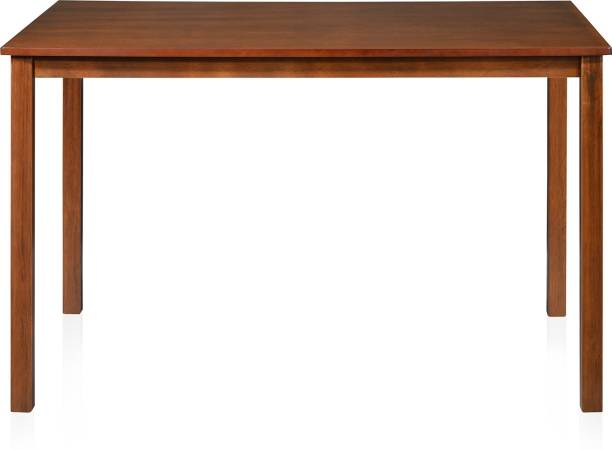 @Home by nilkamal SUTLEJ Solid Wood 4 Seater Dining Table