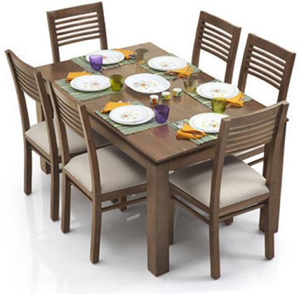Urban Ladder Arabia Solid Wood 6 Seater Dining Table