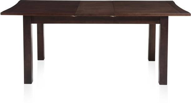 @home by Nilkamal Omaha Solid Wood 6 Seater Dining Table