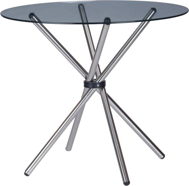 @Home by nilkamal Sturdy Glass 4 Seater Dining Table