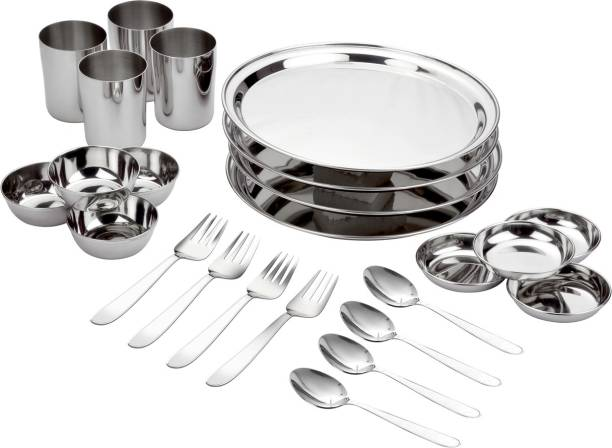 bhalaria Pack of 24 Stainless Steel Dinner Set