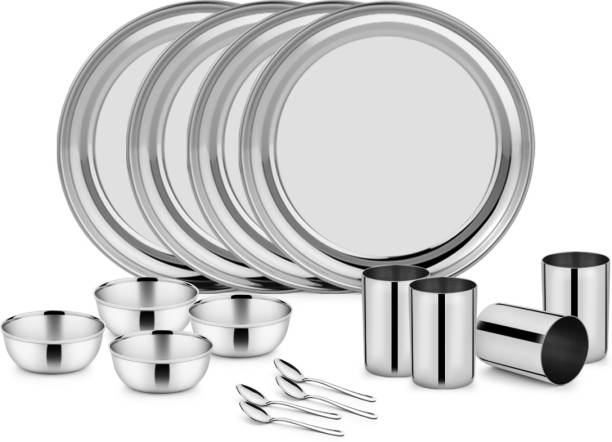 Classic Essentials Pack of 16 Stainless Steel Dinner Set