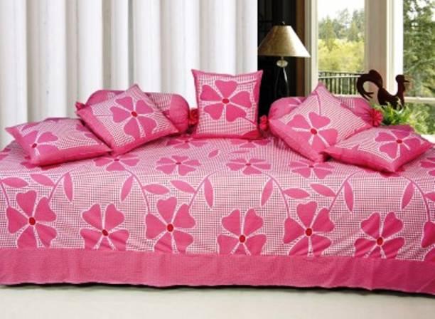 Chhabra Enterprises Cotton Floral Diwan Set