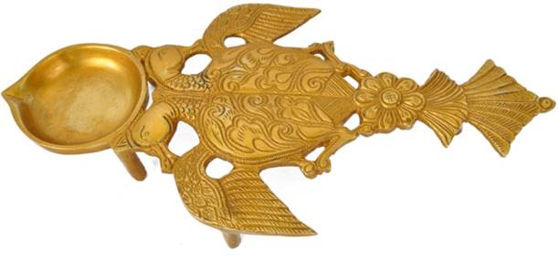 aakrati Brass Hawan Spoon Brass Table Diya
