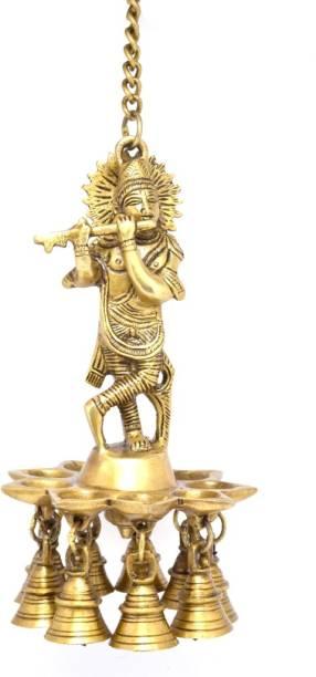HanDecor Krishna Brass Hanging Diya
