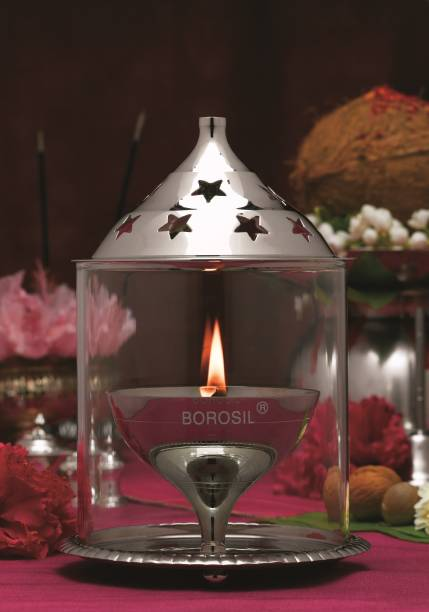 BOROSIL Akhand Nickel Table Diya