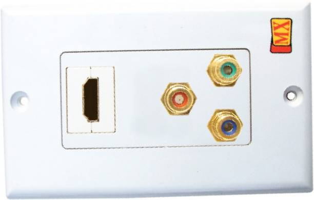 MX HDMI & Composite 3 RCA Audio Video Wall plate Face plates 1080p Full HD Dock