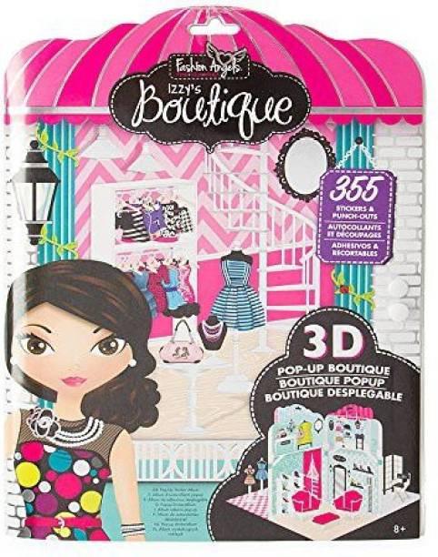 874f3e82dd6 Claire s Accessories Fashion Angels Izzy s Boutique Pop-Up Sticker Album