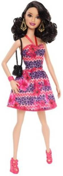 Barbie Fashionista Raquelle Pink And Purple Dress