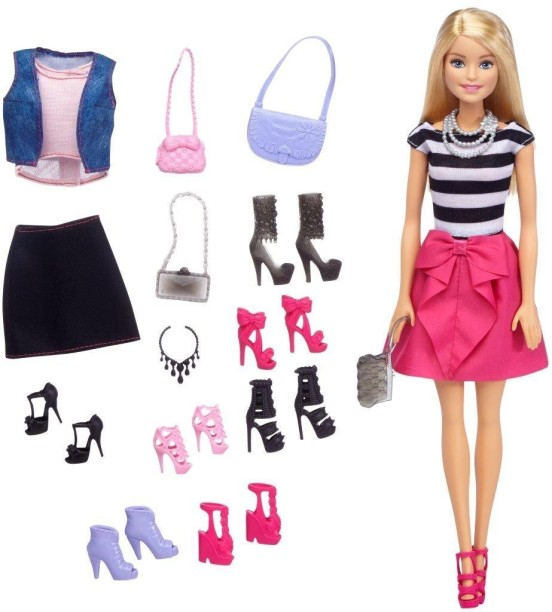 Barbie Made to Move Yoga Doll Outfit Slip-On Top Blue Shirt /& Black Pants NEW