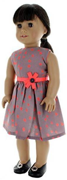 """18/"""" doll clothes-fits American Girl Generation My Life-Dress//Bag-Grey Butterfly"""
