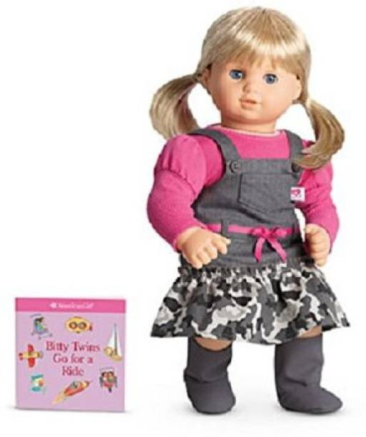 ffa7fe8358 American Girl Bitty Ba Twin Camo Jumper Outfit For+ Book Nib Authentic