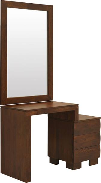 @Home by nilkamal Waves Solid Wood Dressing Table