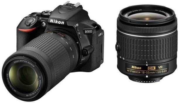 NIKON D5600 DSLR Camera Body with Dual Lens: AF-P DX Nikkor 18 - 55 MM F/3.5-5.6G VR and 70-300 MM F/4.5-6.3G ED VR