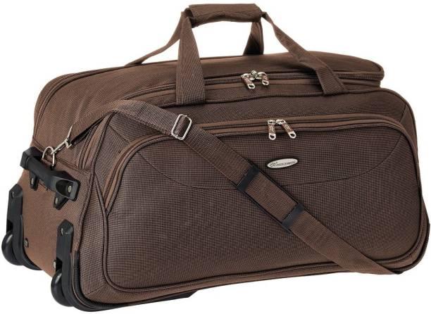 bb3c5793642f Princeware 25 inch 65 cm Russel Polyester 65 cm Brown Travel Duffel Bag