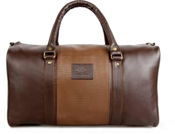 f46c4e7da664 The Clownfish 18 inch 46 cm Brown Duffle Bag (Deluxe) Travel Duffel Bag