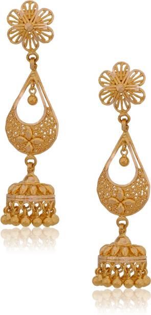 Senco Gold Style Diva Yellow 22kt Jhumki Earring