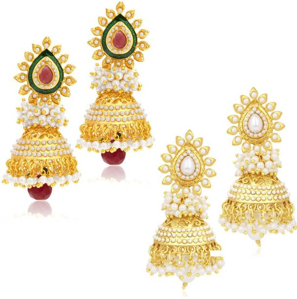 Sukkhi Gorgeous Jhumki Alloy Earring Set