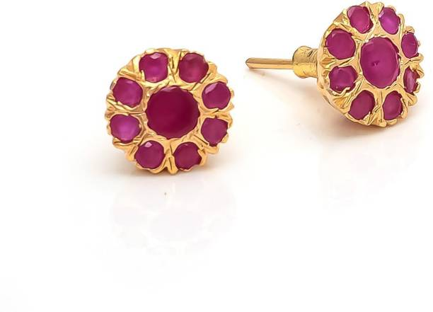 Archi Collection Ethnic Ruby Alloy Stud Earring
