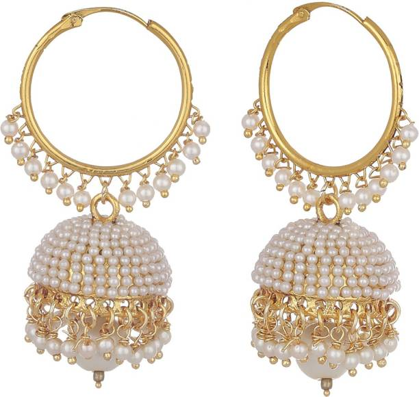 Zeneme Bollywood Inspired Designer Stylish Party Wear Traditional Paisley Alloy Jhumki Earring