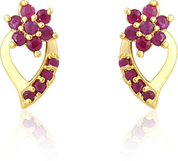 b921064bb Ruby Earrings - Buy Ruby Earrings Online at Best Prices In India ...