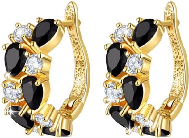Jewels Galaxy Luxuria Cubic Zirconia Alloy Hoop Earring