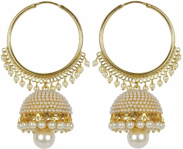 f06cd5f10 Meenaz Wedding Bridal Jewellery Kundan Pearl Jhumka Jhumki Earrings For  Women Girls Ear rings for Girls