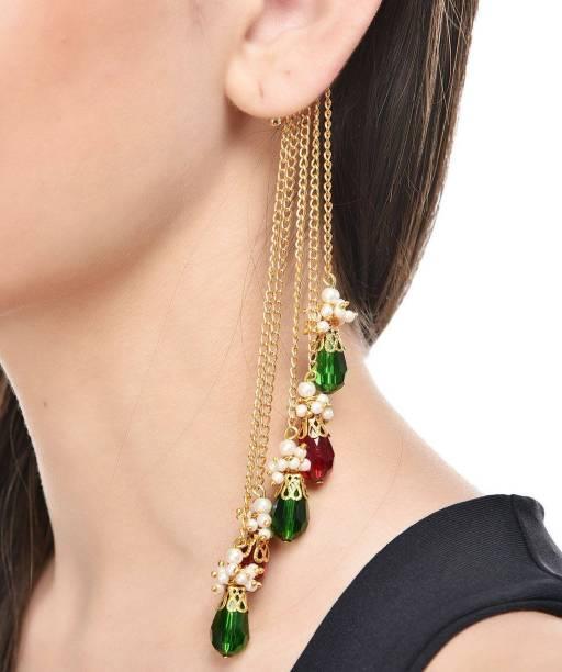 Shining Diva Party Wear Bollywood Inspired Multi Strings Alloy Cuff Earring