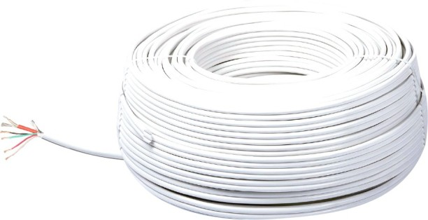 Wires Buy Electrical Online At Best Prices In India. Mx Cctv Cable 41 Full Copper Rt4 White 200 M Wire. Wiring. One Three Wiring Wires At Scoala.co