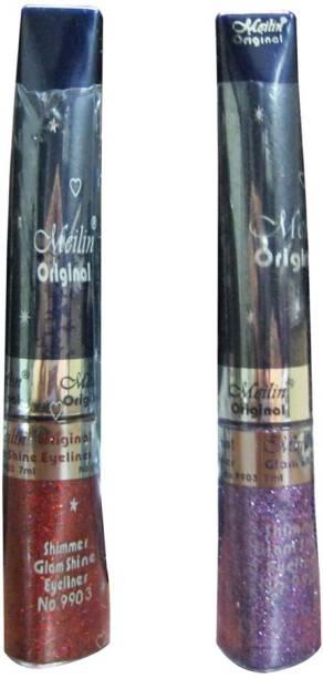 Meilin Shimmer Glam Shine Eyeliner in Red & Lavender 14 ml